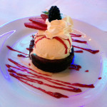 Genesis Steakhouse & Wine Bar Menu, Chocolate Soufflé with Ice Cream