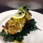 Pistachio Encrusted Sea Bass