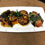 Genesis Steakhouse & Wine Bar Menu, Chef Special Half Cornish Hen with Grilled Potato Cakes