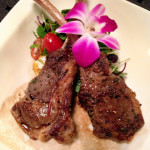 Genesis Steakhouse & Wine Bar Menu, Lamb Chops with Edible Flowers